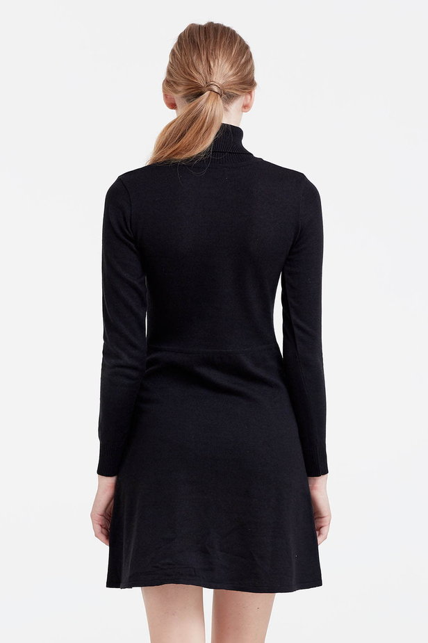 Black knitted dress photo 4 - MustHave online store
