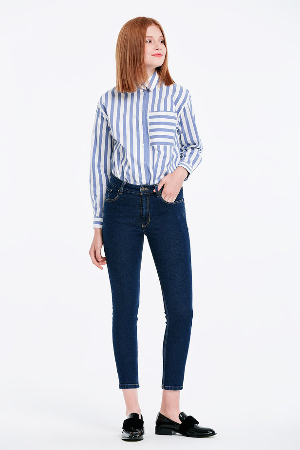 Short skinny blue jeans photo 4 - MustHave online store
