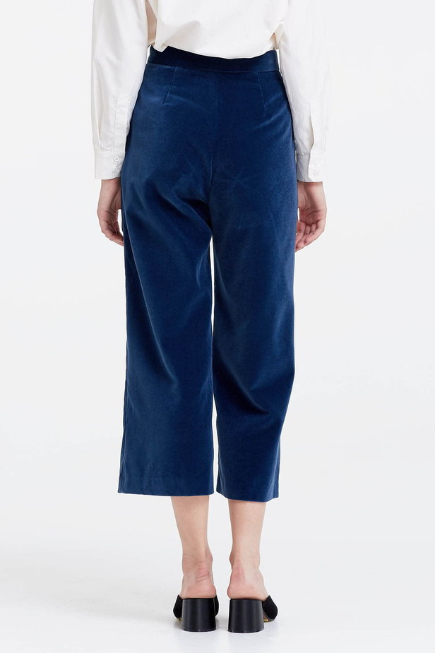 Blue velvet culottes photo 4 - MustHave online store