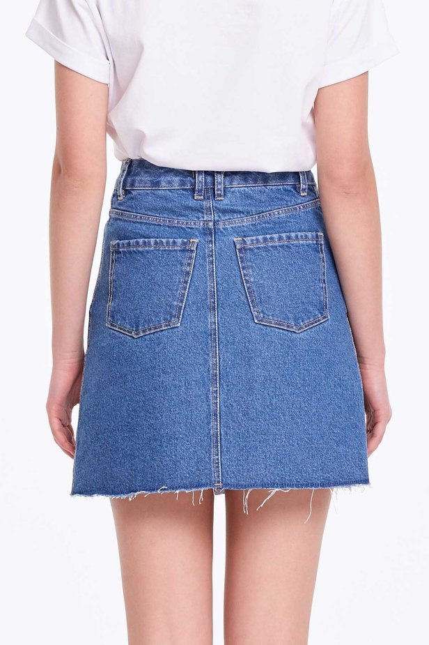 Mini denim skirt photo 6 - MustHave online store