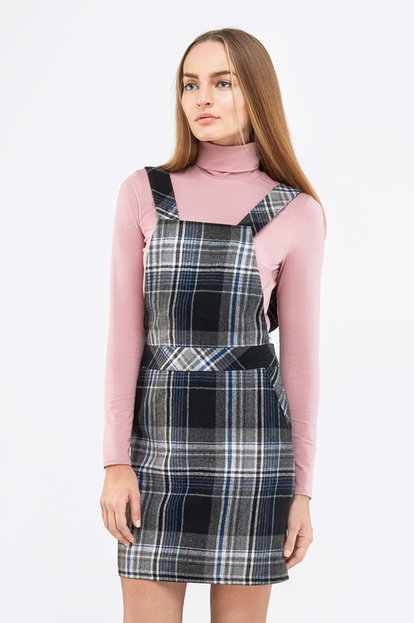 Mini checked sundress with straps