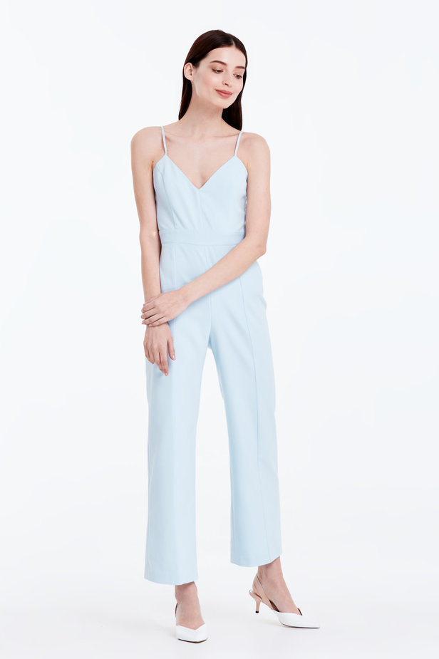 Blue jumpsuit with straps photo 4 - MustHave online store