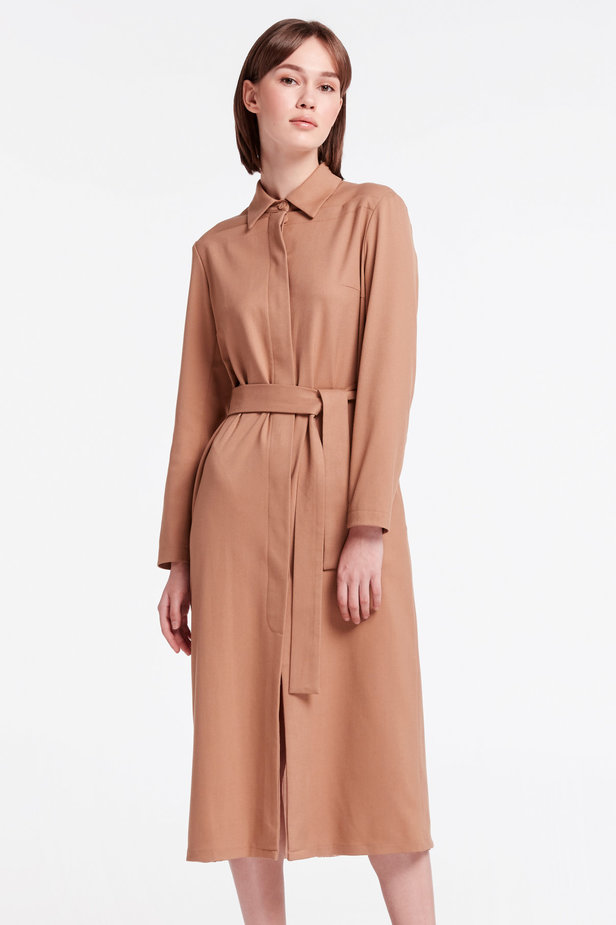 Beige dress-trench MUSTHAVE X LITKOVSKAYA photo 1 - MustHave online store