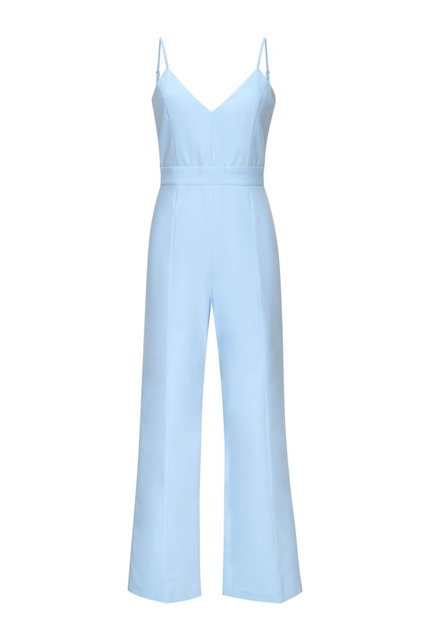 Blue jumpsuit with straps photo 5 - MustHave online store