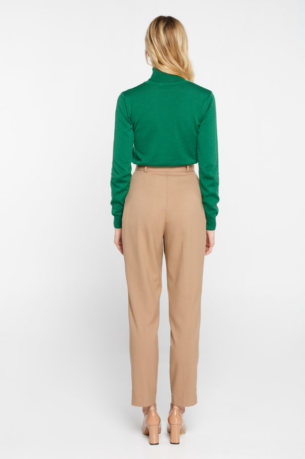 Green turtleneck with cotton photo 5 - MustHave online store
