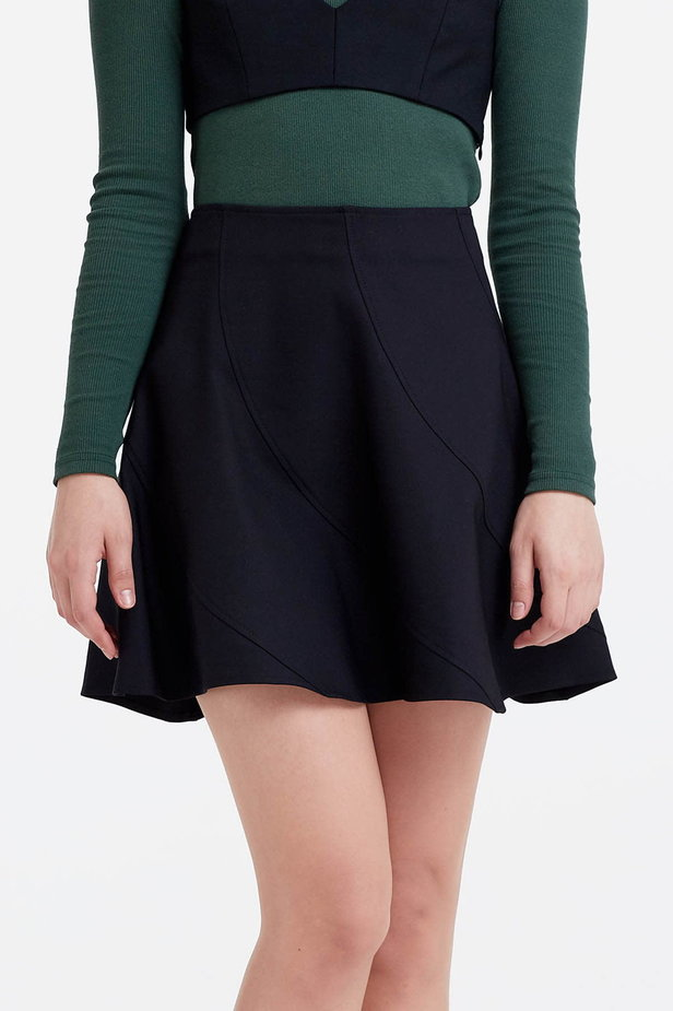 Mini black skirt photo 1 - MustHave online store