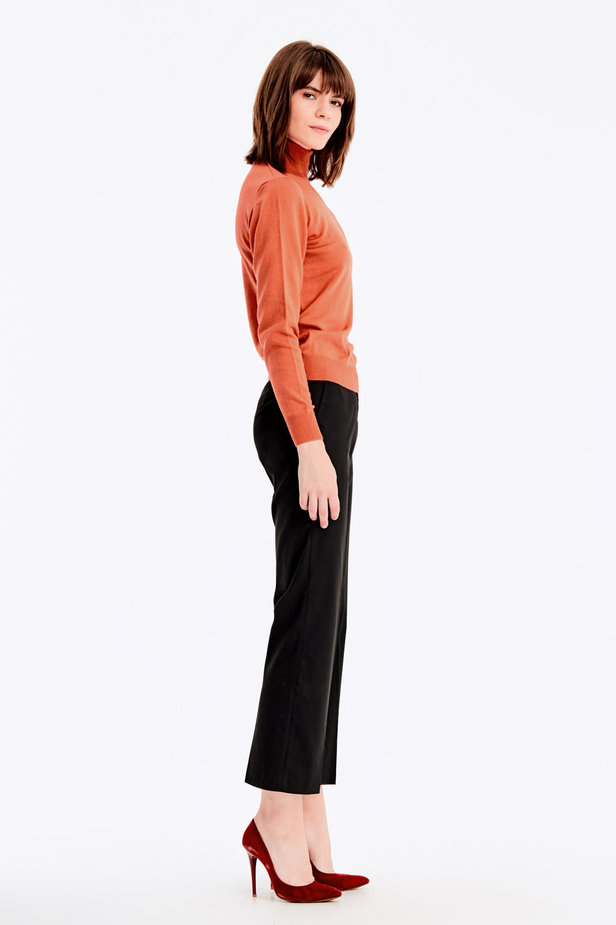 Terra-cotta knit polo neck photo 4 - MustHave online store