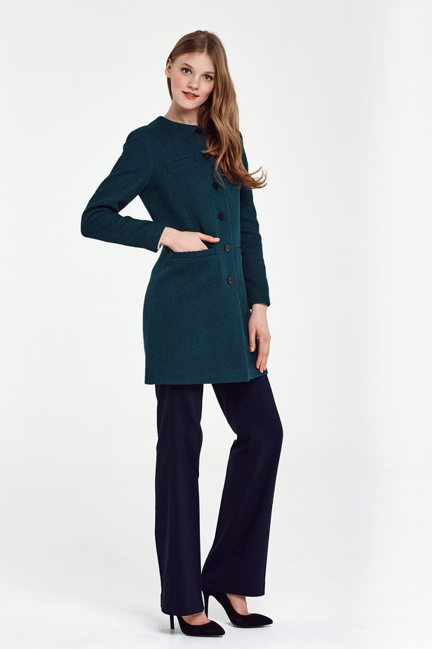 Long green jacket with lurex photo 5 - MustHave online store