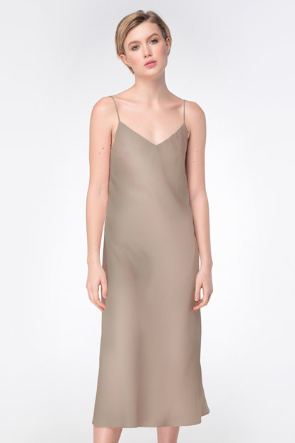 Biege slip-dress