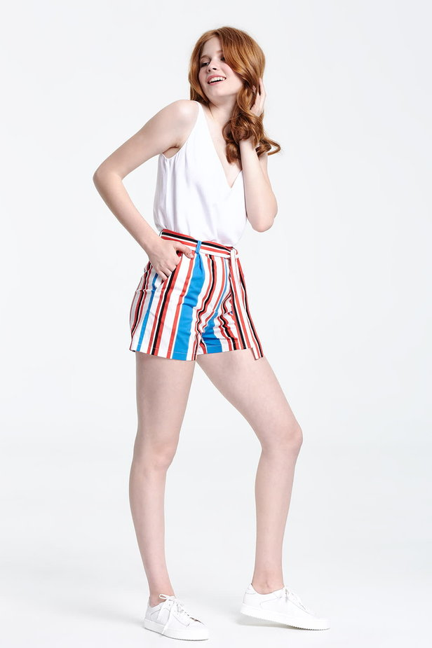 Shorts with blue and red stripes photo 5 - MustHave online store