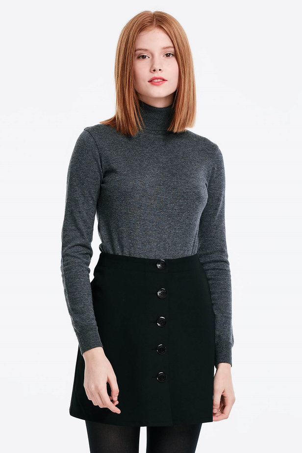 Grey polo neck photo 1 - MustHave online store