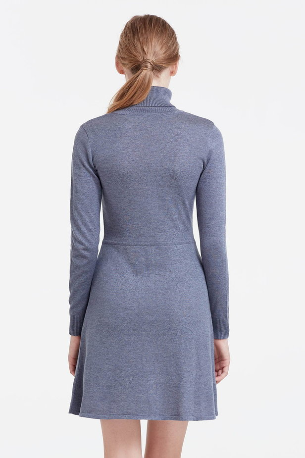 Grey knitted dress photo 4 - MustHave online store