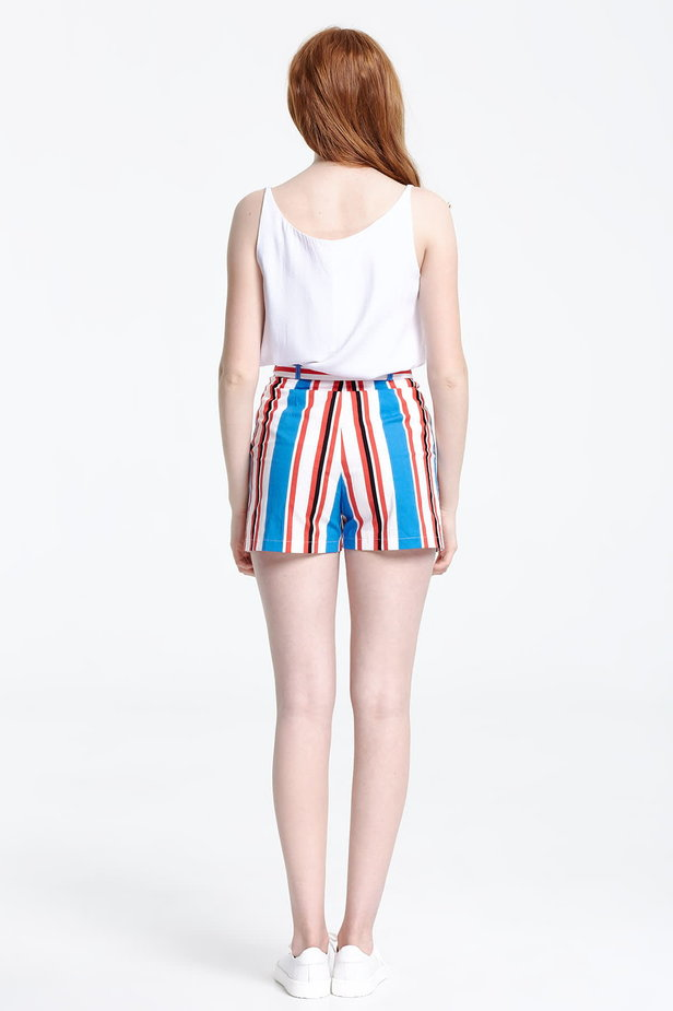 Shorts with blue and red stripes photo 3 - MustHave online store