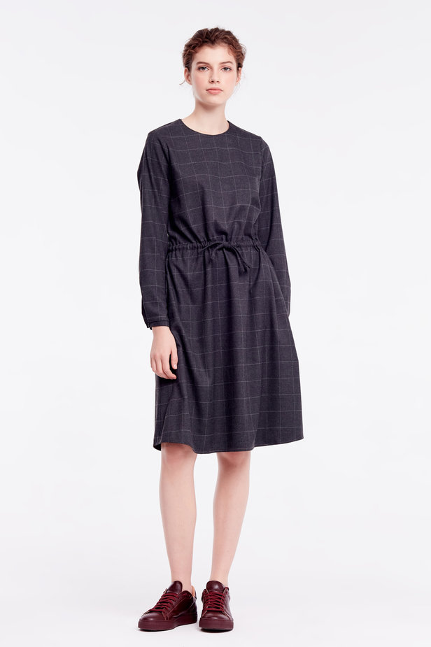 Below-knee grey dress photo 3 - MustHave online store