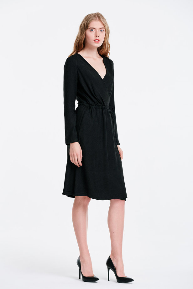 Wrap black dress photo 4 - MustHave online store