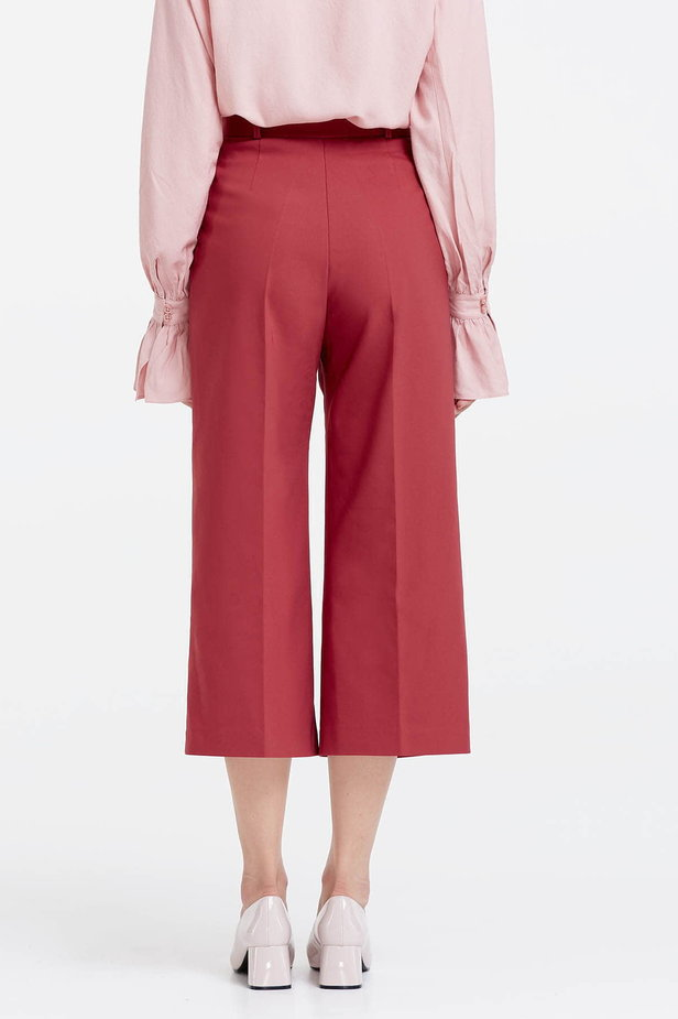 Wine red culottes photo 4 - MustHave online store