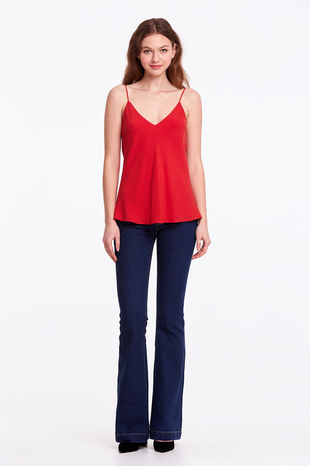 Red rayon top photo 2 - MustHave online store