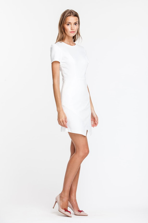 Wrap white dress photo 4 - MustHave online store