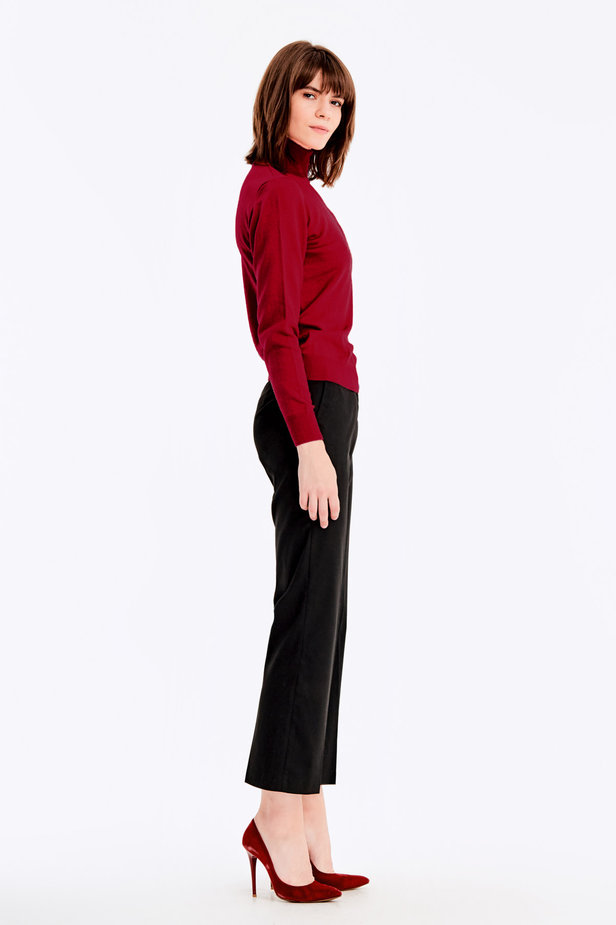 Red knit polo neck photo 4 - MustHave online store