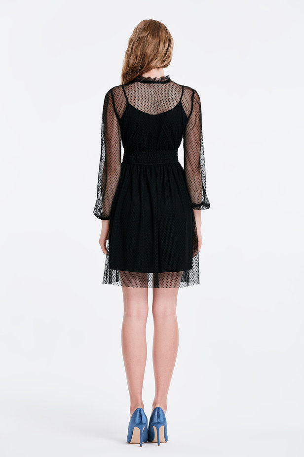 Black lace dress photo 3 - MustHave online store