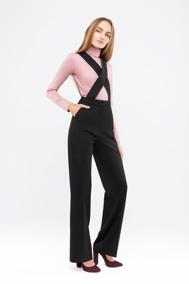 Black jumpsuit with straps photo 4 - MustHave online store