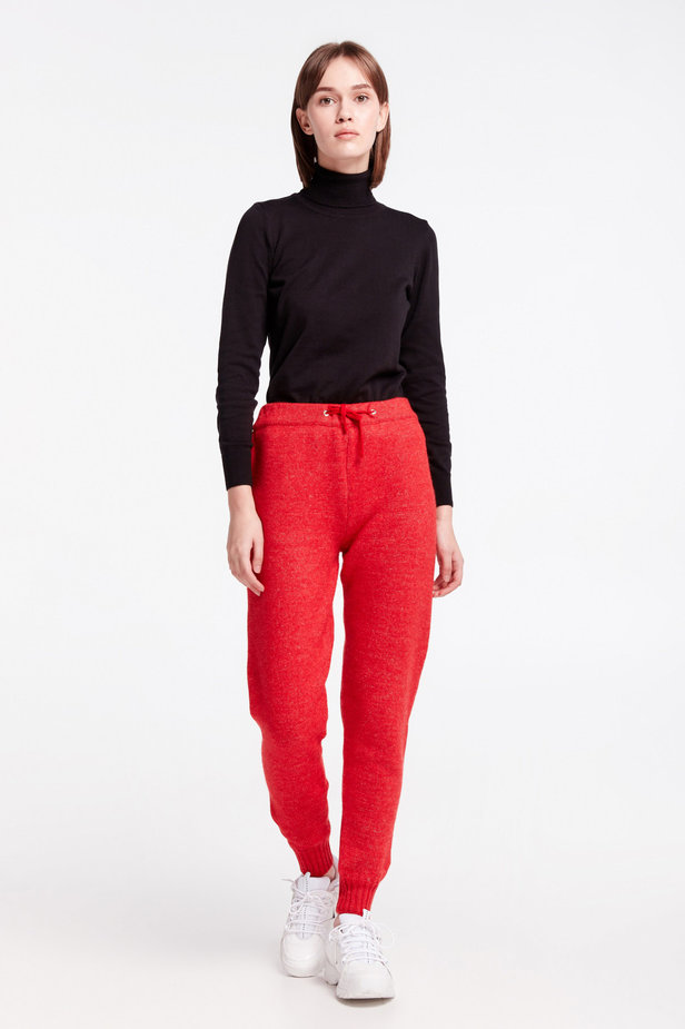 Red knit pants photo 4 - MustHave online store