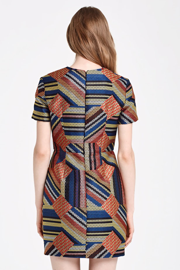 Mini colorful dress with lurex photo 5 - MustHave online store