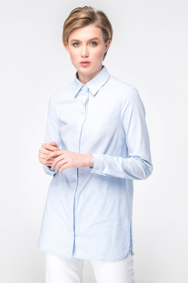 Blue long shirt photo 6 - MustHave online store