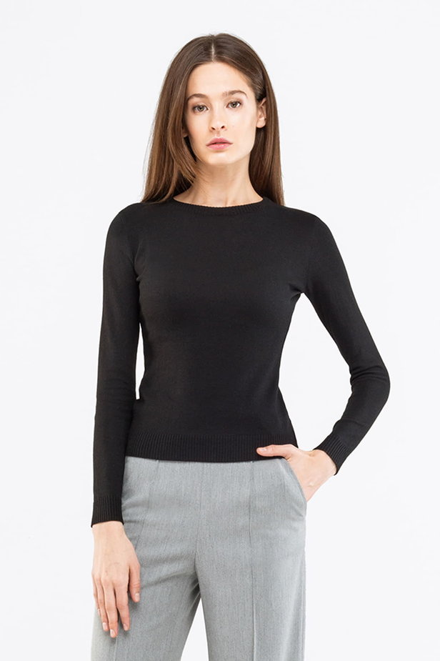Black jumper photo 1 - MustHave online store