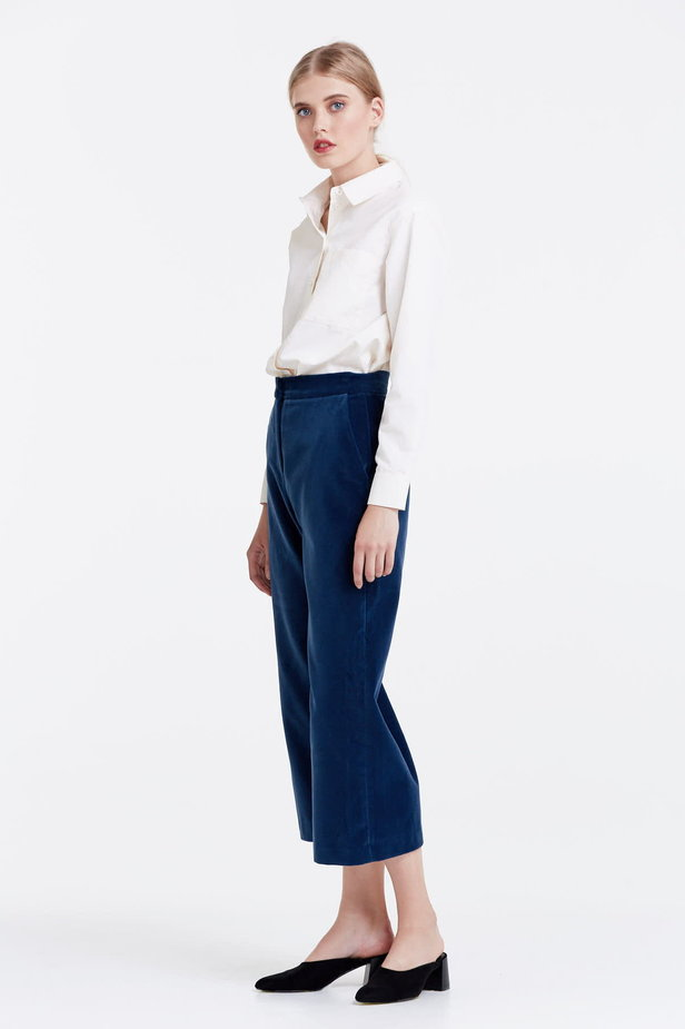 Blue velvet culottes photo 2 - MustHave online store