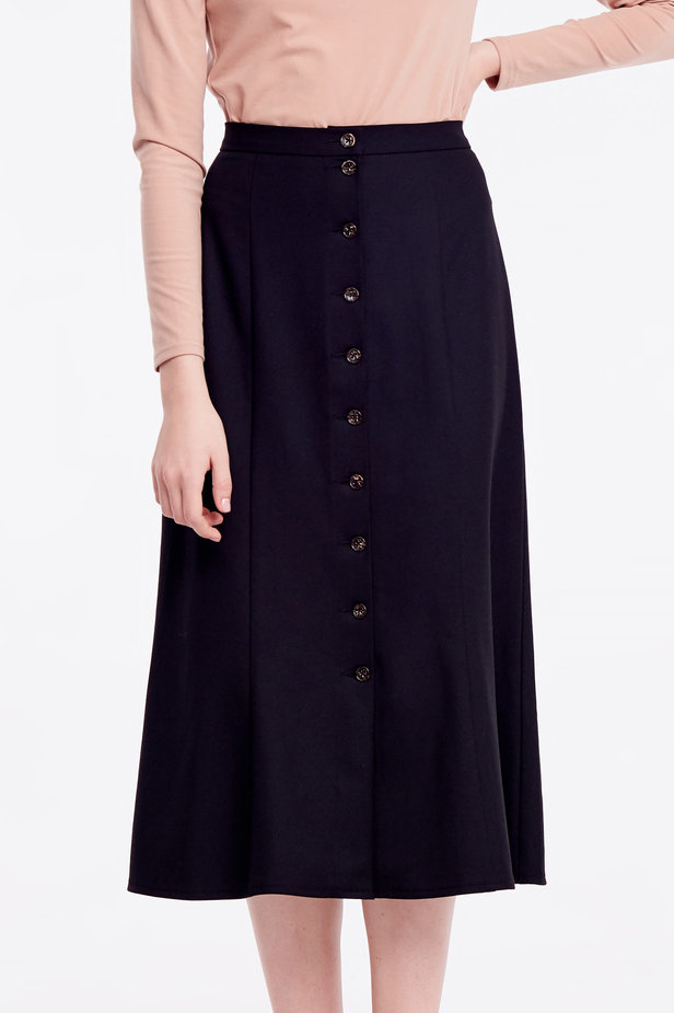 Black skirt with buttons photo 1 - MustHave online store