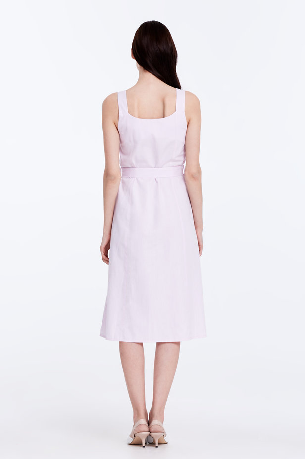 Light-pink sundress with a belt photo 6 - MustHave online store