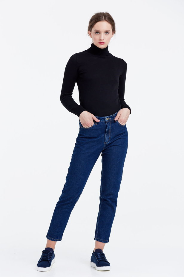 Black polo neck photo 2 - MustHave online store