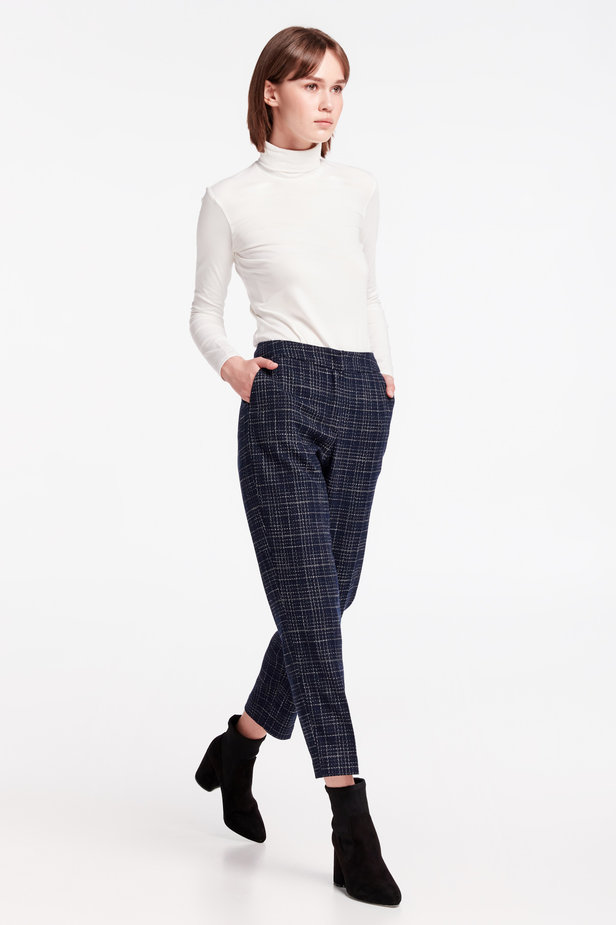 Dark-blue checkered pants photo 7 - MustHave online store