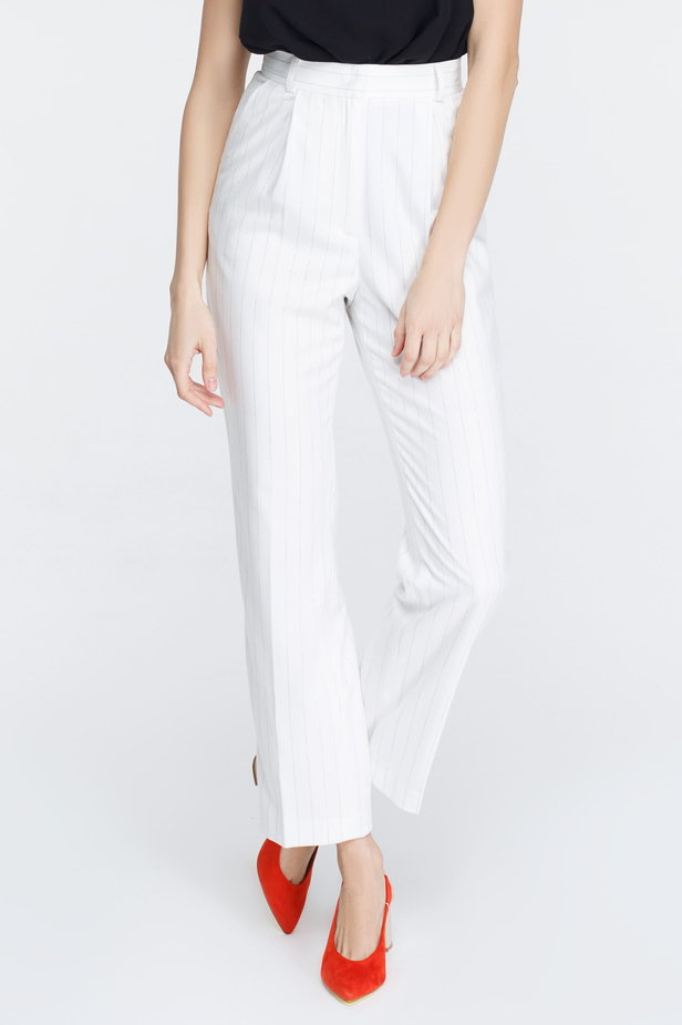 White pants with black stripes photo 3 - MustHave online store
