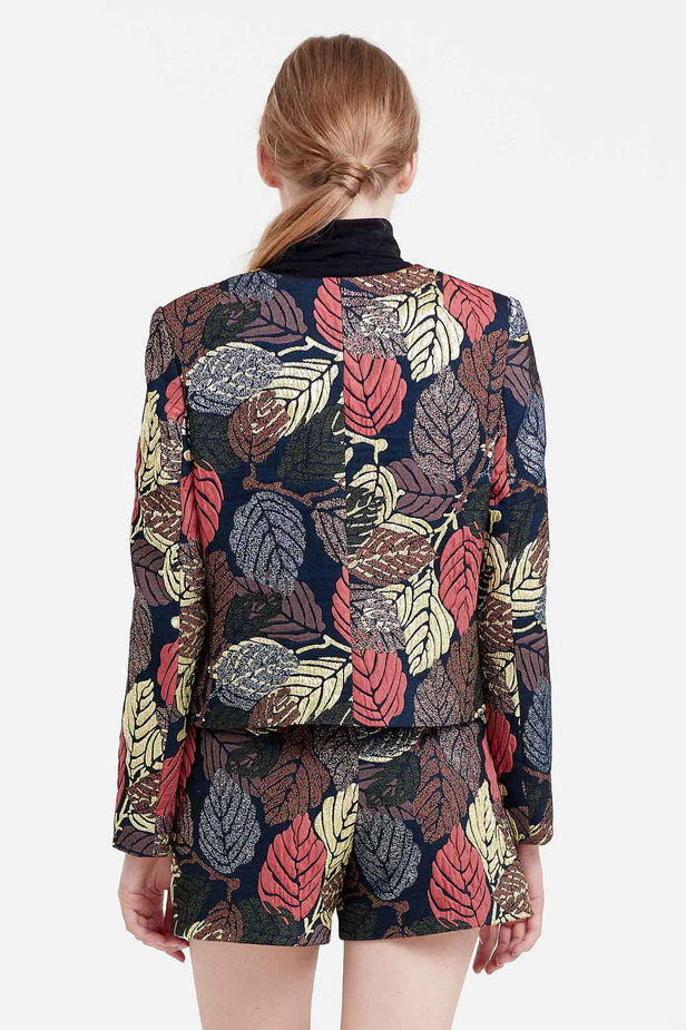 Short jacket with golden leaves photo 4 - MustHave online store