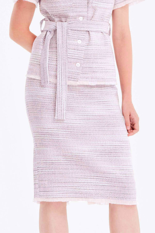 Pencil tweed skirt