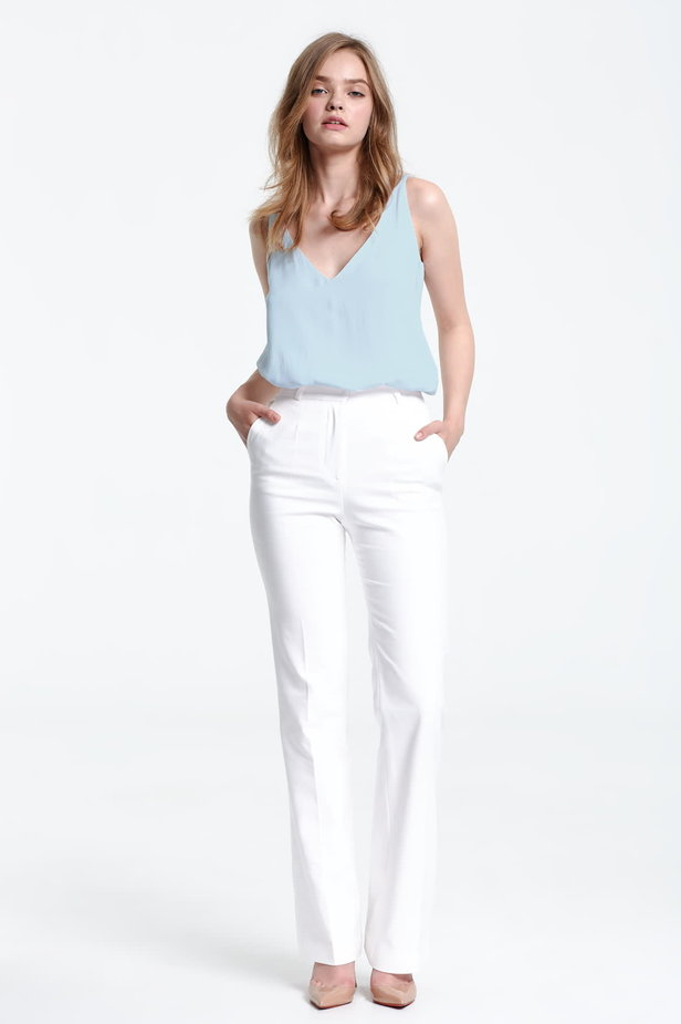 Blue top with a low neckline photo 5 - MustHave online store