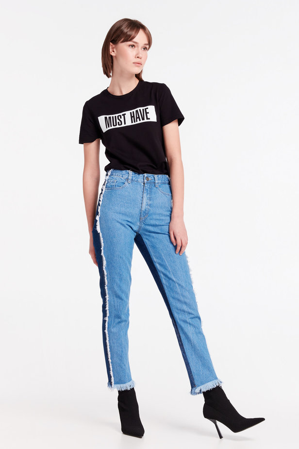 Double-colored jeans MUSTHAVE X LITKOVSKAYA photo 6 - MustHave online store