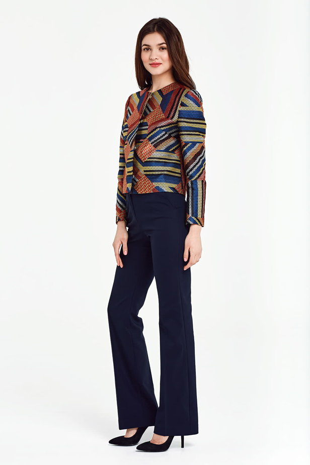 Short multicolored jacket with lurex photo 3 - MustHave online store