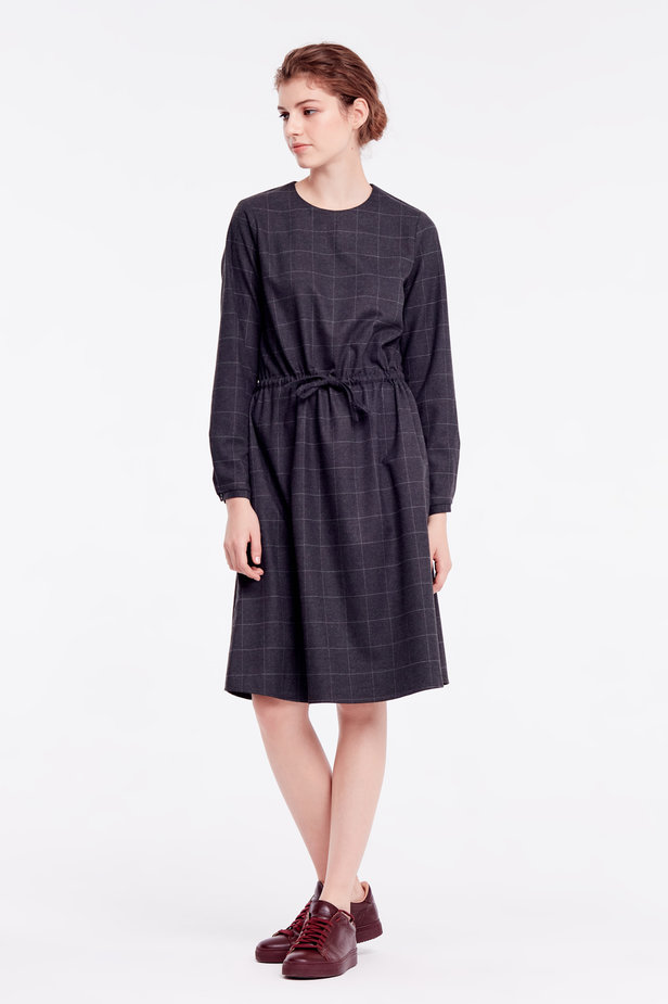 Below-knee grey dress photo 4 - MustHave online store