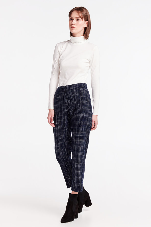 Dark-blue checkered pants photo 3 - MustHave online store
