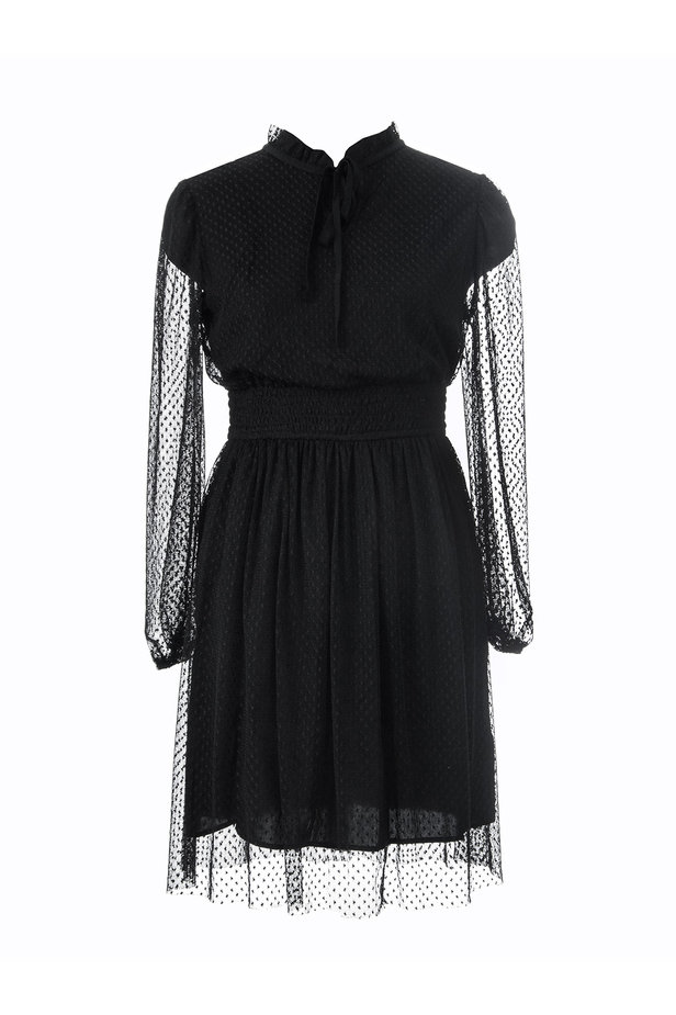Black lace dress photo 6 - MustHave online store