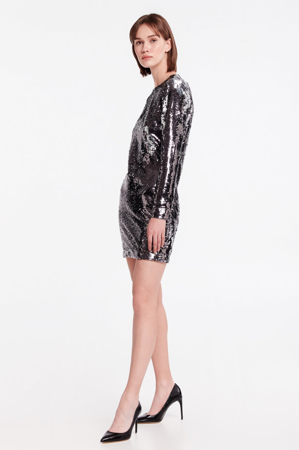 Silver sequin dress photo 3 - MustHave online store
