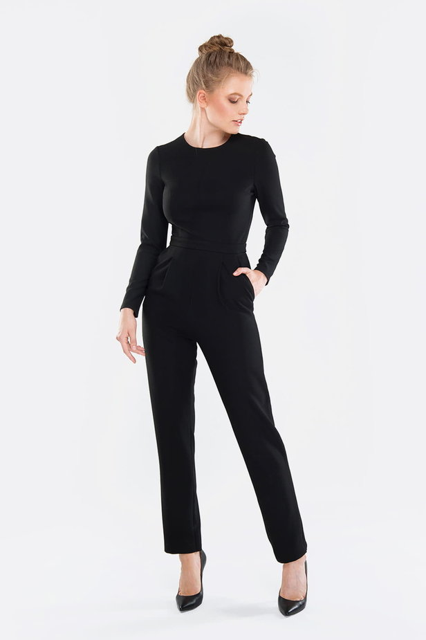 Black jumpsuit photo 5 - MustHave online store