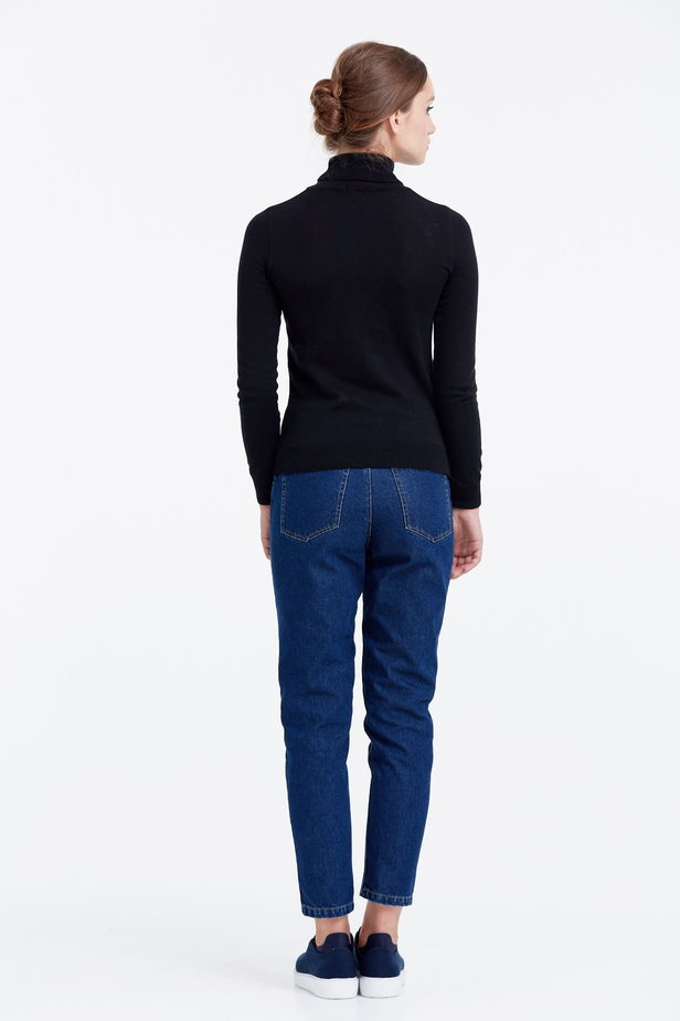 Black polo neck photo 4 - MustHave online store