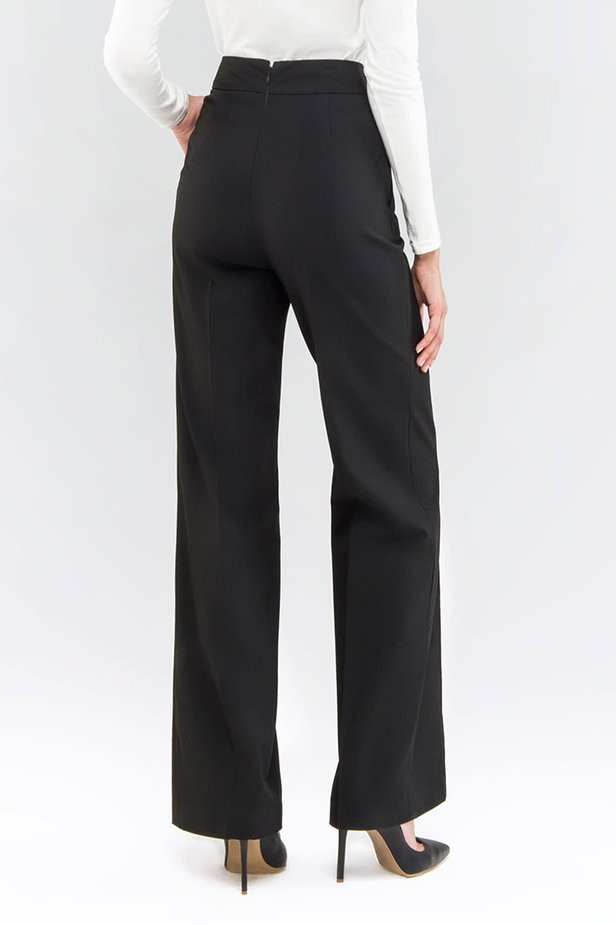 Black pants with a belt photo 2 - MustHave online store