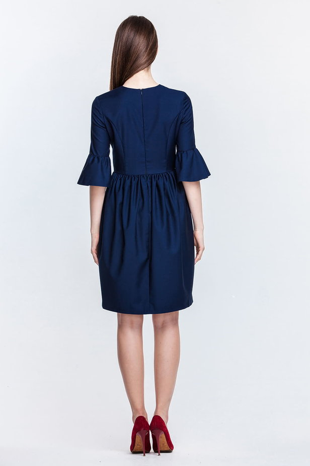 Blue dress with flared sleeves photo 4 - MustHave online store