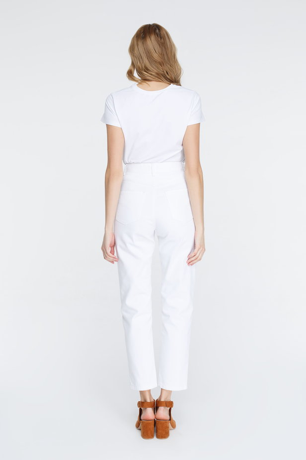 White mom fit jeans photo 5 - MustHave online store