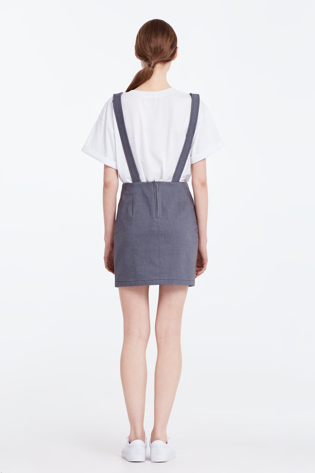 Above the knee grey sundress photo 6 - MustHave online store